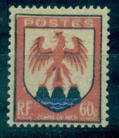 FRANCE VARIETE .N°758 N X Légère DOUBLE IMPRESSION ROUGE Signé R.Calves.cote 390 € .TB. - Curiosità: 1945-49  Nuovi