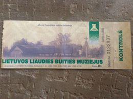 Lithuanian Folk  Museum 2012 - Tickets - Entradas