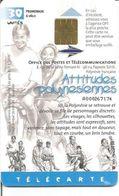 Télécarte Polynésie Française - Attitudes Polynésiennes - PROMENADE A VELO 04/2000 30 U GEM Tirage 70 000 (N°92) - French Polynesia