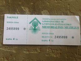 A. Baranauskas And A. Vienuolis Memorial Museum Lithuania - Tickets - Entradas