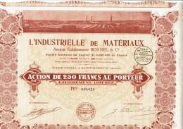 02-INDUSTRIELLE DE MATERIAUX. BONNEL. SAINT QUENTIN. Capital 6 MF - Aandelen