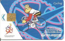Télécarte De Malaisie - XVIèmes JEUX DU COMMONWEALTH ( Sport Cyclisme - Kuala Lumpur 1998 ) GEM2 - Malaysia