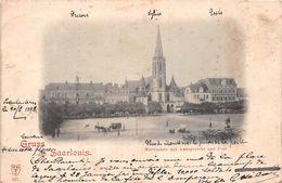 ¤¤  -  ALLEMAGNE  -  GRUSS AUS SAARLOUIS  -  Marktplatz Mit Amtsgericht Und Post  - Oblitération De 1898   -  ¤¤ - Kreis Saarlouis