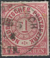 NDP 1 Gr Freimarke Michel 4 Gestempelt (1-570) - Norddeutscher Postbezirk