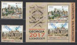 Georgia  2017 Used  Castles Set+Block M - 2017