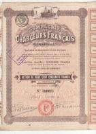 75-CHARGEURS FRANCAIS PLISSON Et Cie. Act 250 F 1920.  Capital 3,5 MF. DECO - Aandelen