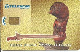 Télécarte De Malaisie - KERIS ANAK AYAM TELENG  ( RM 20 ) - Malaysia