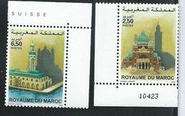 Emission Commune Avec La Belgique 2001; 2 Valeurs Neuves  Avec Bord De Feuille Et Inscriptions - Maroc (1956-...)