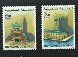 Emission Commune Avec La Belgique 2001; 2 Valeurs Neuves - Maroc (1956-...)
