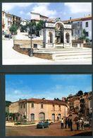 SANTA CROCE DEL SANNIO (BN) - Corso Generale De Maria E Piazza Mercato Con Fontana Monumentale. - Benevento