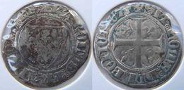 Ile De France Paris 1385 Blanc à L'écu Dit Guénar 1ère émission Charles VI - 1380-1422 Charles VI Le Fol