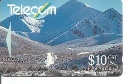 Télécarte De NOUVELLE ZELANDE - Paysage De Montagne 10$ - Nouvelle-Zélande