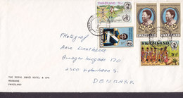 SWAZILAND THE ROYAL SWAZI HOTEL & SPA, MBABANE 1973 Cover Brief HEDENSTED Denmark (3 Scans) - Swaziland (1968-...)