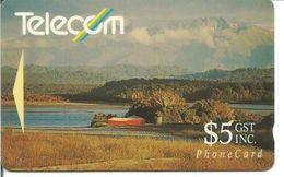 Télécarte De NOUVELLE ZELANDE - Paysage De Bord De Mer 5$ - Nouvelle-Zélande