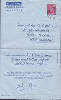 Nigeria Postal Stationery Ganzsache Entier Air Mail  Aerogramme Air Letter UGHELLI 1962 BADEN-BADEN West-Germany - Nigeria (1961-...)