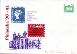 "(FC5) DDR Privatganzs.-Umschlag  PU 017 C2/001-a Wz 50(Pf) ""PHILATELIA '90 - Postmuseum"", Ungebraucht - [6] Repubblica Democratica"