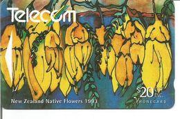 Télécarte De NOUVELLE ZELANDE - KOWHAI - SOPHORA MICROPHYLLA 20$ - Fleurs