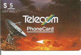 Télécarte De NOUVELLE ZELANDE - Radiotéléscope 5$ - Nouvelle-Zélande