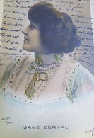 Cpa FEMME ARTISTE FOLIES BERGERE : JANE DERVAL , Bijoux , Rangs De Perles, 1903 , ARTIST WOMAN , JEWEL Early Photo Pc - Femmes