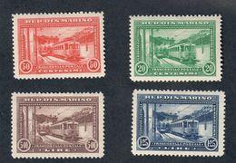 San Marino 1932 Inaugurazione Della Ferrovia Rimini San Marino Serie S.30 Linguellato FRA.1121 - Ungebraucht