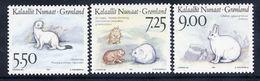 GREENLAND 1994 Mammals II MNH / **.  Michel 249-51 - Greenland