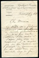 Vieux Papiers - Lettre  Du Cabinet Du Gouverneur De Pondichery En 1889 - Collections