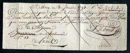 Vieux Papiers - Billet à Ordre De Albert En 1793 Pour Paris - Vieux Papiers