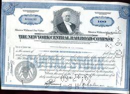 Vieux Papiers - Certificat De La New York Central Railroad Company En 1960 - Azioni & Titoli