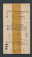 GERMANY QY4588 3kl Schnellzugzushlag Hamburg Harburg F Zone II 1951 Fahrkarte Billet Ticket - Chemins De Fer