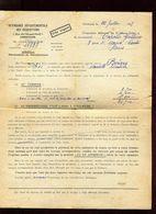 Vieux Papiers - Certificat D 'indemnités De 1948 Suite à Occupation Américaine à Bérigny ( Manche) - Documents