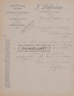65 238 TOURNAY HAUTES PYRENEES 1919 Vins J. LAFONTAN Futailles Foudres Cuves  à JEAN DUBARRY De CASTELNAU D' AUZAN - France