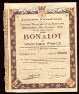 Vieux Papiers - Bon à Lots De L 'Exposition De La Houille Blanche De Grenoble En 1925 - Collezioni