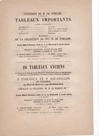 1873 ,,, INVITATION POUR VENTE AUX ENCHERES   DE TABLEAUX DONT UN REMBRAND ,  POUSSIN,  VAN DYCK ETC,,,,  DROUOT - Faire-part