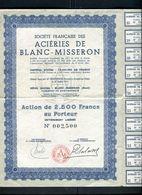 Vieux Papiers - Action Des Aciéries De Blanc Misseron - Actions & Titres
