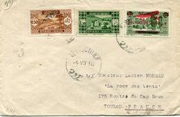 GRAND LIBAN LETTRE DEPART BEYROUTH 4 VII 36 POUR LA FRANCE - Briefe U. Dokumente