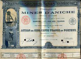 Vieux Papiers - Action De La Cie Des Mines D 'Aniche En 1939 - Actions & Titres