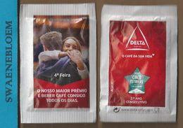 Suikerzakje.- Portugal 1 X Sachet De Sucre. Delta Cafés. 4a Feira. Premio Cinco Estrelas 2016 - Sugars
