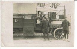 CARTE PHOTO ORIGINALE CAMION TRANSPORT  - Véhicule Et Lieu à Identier - 14.02.1915  -  VOIR SCANS - Vehicles