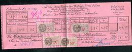 Vieux Papiers - Quittance De La Société Des Distributions D 'eau De Aniche En 1938 - France