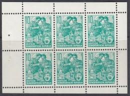 DDR Heftchenblatt 8 A X, Postfrisch **, Fünfjahresplan 1960 - Markenheftchen