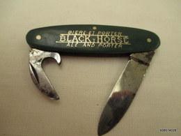 Canif Vert  Biere Porter  Black Horse   Tres Bon état - Knives/Swords