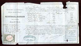 Vieux Papiers - Connaissement De Nantes En 1874 - Collezioni