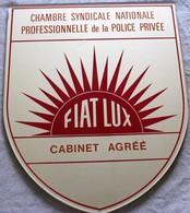Ancienne Plaque Chambre Syndicale Nationale Professionnelle De La Police Pivée Fiat Lux Détective Privé Nestor Burma ? - Police & Gendarmerie
