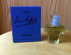 """Miniature  """"L'EAU """" De SONIA RYKIEL Eau De Toilette  7,5 Ml Dans Sa  Boite (M076) - Miniatures Womens' Fragrances (in Box)"""