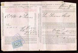 Vieux Papiers - Connaissement De Nantes En 1882 - Collezioni