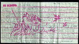 Vieux Papiers - Lettre Décorée à La Main De Chine écrite En Français En 1904 - Vieux Papiers