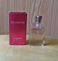 """Miniature  """"MIRACLE """"de LANCÔME  Eau De Parfum 5 Ml Dans Sa  Boite (M076) - Miniatures Womens' Fragrances (in Box)"""