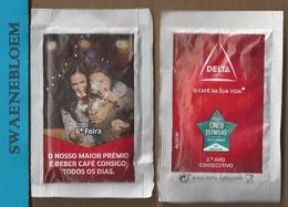 Suikerzakje.- Portugal 1 X Sachet De Sucre. Delta Cafés. 6a Feira. Premio Cinco Estrelas 2016 - Sugars