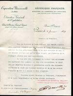 Vieux Papiers - Lettre Du Ministère Du Commerce Pour Avignon En 1899 - Collezioni