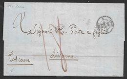.  1854 LAC Lyon A Livorno, Italie - Marcophilie (Lettres)